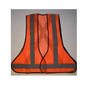 Safety Jacket 3 Side Open 120 GSM Net With 2 Inch Strip With Velcro