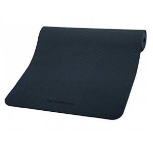 The True Mat TPE Yoga and Exercise Mat with Alignment Lines for Grip 6x2 ft, Thickness: 6mm (Blue)