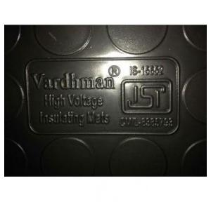 Vardhman Electrical Insulation Rubber Mat 3.3KV IS:15652, Size: 1x2 mtr, Thickness: 2mm (Black)