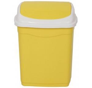 Aristo Square Swing Lid Trash Bucket Dustbin (Yellow) Vento 16 Capacity, 13.75 Ltr
