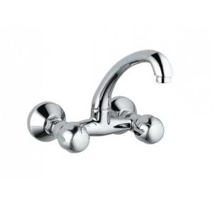 Jaquar Sink Mixer With Swinging Spout with Connecting Legs and Wall Flanges, CQT-CHR-23309