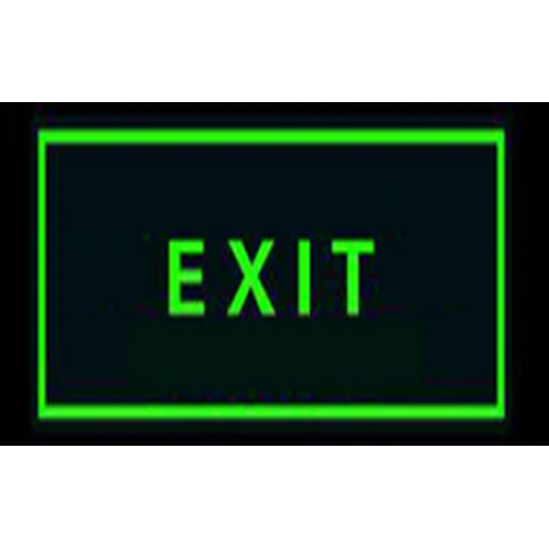 Celling Handing Glow Exit Signage, Size: 12x6 Inch