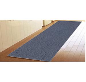Kuber Rubber Floor Door Mat 2x6 Feet (Grey)