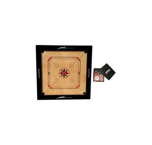 Stag Championship Wooden Carrom Board with Coin, Board Thickness 3 Inch Board 35x35 Inch