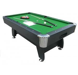 Play In The City Pool Table 8ft X 4ft Blue American Style Billiard Thickness 18mm MDF Wood Automatic One side Ball Collection With Accessories 2 Cue Stick and 1 Chalk Pair 1 Trangle 1 Ball Box 1 Brush
