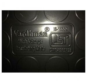 Vardhman Electrical Insulation Rubber Mat 11kV IS:15652 Size: 1ft1Rft Thickness: 2.5mm (Black)