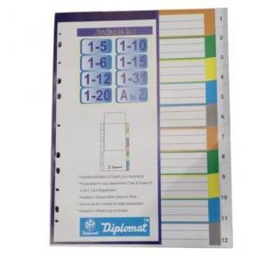 Diplomat Plastic Separator 10 Color