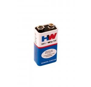 Hi Watt Zinc Carbon Battery 9V