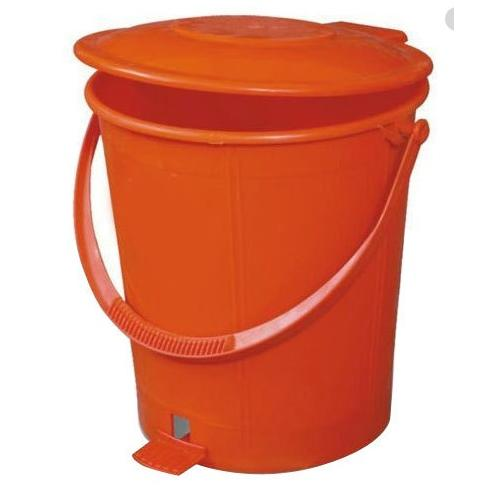 Plain Pedal Dustbin Plastic 5 Ltr Red, Blue, Yellow, Green