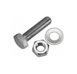 GI Nut Bolt with Washer, 12.5mm x 3Inch