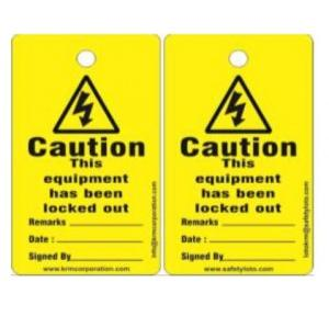 Lockout Photo Out Of Service/ Do Not Operate Tag SH-T-Ooo Pack of 10