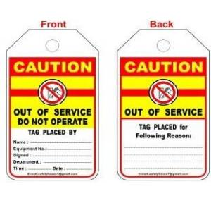Lockout Photo Caution Tag SH-T-CAU Pack of 10