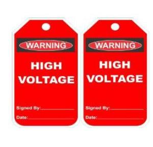 Lockout Photo Electrical Hazard Tag SH-T-EHAZ Pack of 10