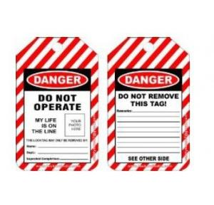 Lockout Photo High Voltage Tag SH-T-HVT Pack of 10