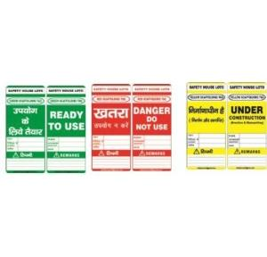 Lockout Scaffold Made Of Rewritable Tag 76X186mm SH-T-SF/I Pack of 10
