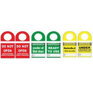 Lockout Scafdolding/ Inventory Tag With Round 3.75X 8mm SH-T-SF/I Pack of 10