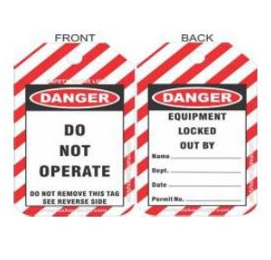 Lockout Do Not Operate Tag 77X138mm SH-T-SC Pack of 10