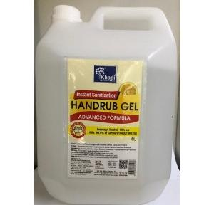 Khadi Hand Sanitizer Gel Isopropyl Alcohol 70%, 5 Ltr