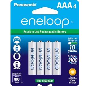Panasonic Ni-MH Pre-Charged Rechargeable Battery Eneloop AA 2100 BK-3MCCE/4BN (Pack of 4 Pcs)
