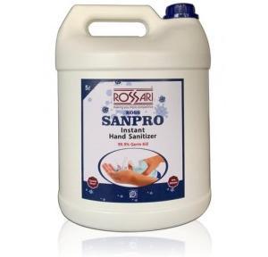 Buzil Rossari Ross Sanpro Instant Hand Sanitizer Liquid 70% Ethanol, 5 Ltr