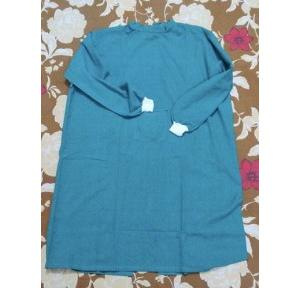 Medical Examination Gown Cotton Fabric, Blue