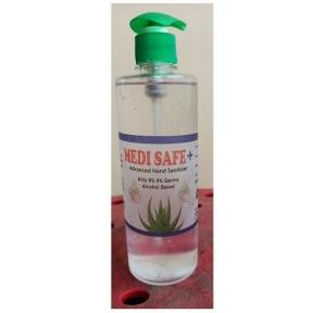 Medi Safe Hand Sanitizer Gel Isopropyl Alcohol 70% With Pump, 500 Ml