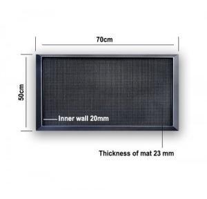 Agni Vulcanized Rubber Disinfectant Sanitizer Foot Mat 70x50cm, Thickness: 23mm