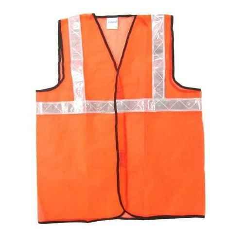 Safety Jacket Polyester Type 120 GSM 2 Inch PVC Reflective Tape Large Orange