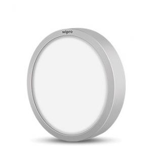 Wipro Garnet 18W Round Trimless Surface LED Panel Light Cool Day White, D641827