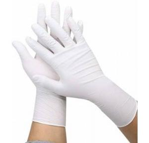 Surgical Latex Medical Examination Disposable Hand Gloves White (Pack of 1 Pair)