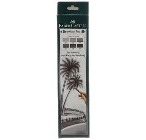 Faber-Castell Graded Drawing Pencil - Pack of 6 (Black)