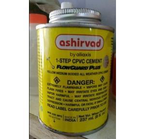 Ashirvad 1 Step Flowguard Plus CPVC Yellow Medium Solvent Cement 473 ml Tin 70002468