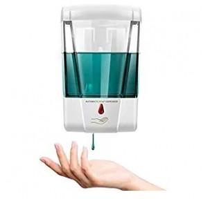Tagve Automatic Soap Dispenser Wall Mounted 700ml Hand Free Touchless Infrared Sensor (White)