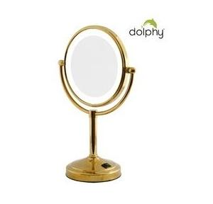 Dolphy Vanity Mirror 2 Sided Gold 8 Inch, DMMR0026