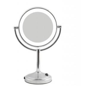 Dolphy LED Tabletop Magnifying Mirror Silver 8 Inch, DMMR0024