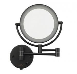 Dolphy LED 5x Magnifying Mirror Brass Black 8 Inch, DMMR0032