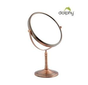 Dolphy 2 Sided Vanity Mirror  Copper 8 Inch, DMMR0018