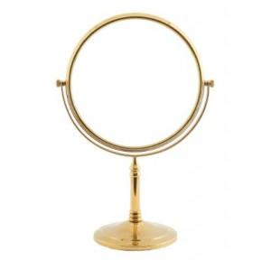 Dolphy Shaving & Makeup Mirror Stainless Steel and Brass Gold 8 Inch, DMMR0019