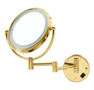 Dolphy LED Magnifying Mirror Stainless Steel and crome Gold 8 Inch, DMMR0012