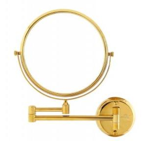 Dolphy Magnifying Mirror Brass And High Polished Chrome Material Gold 8x1x8 Inch, DMMR0005
