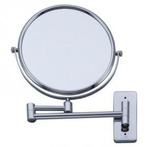 Dolphy Magnifying Mirror stainless steel and brass Silver 8x1x8 Inch, DMMR0002