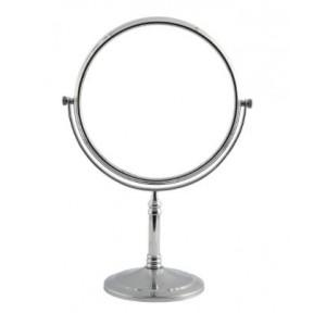 Dolphy Tabletop Vanity Mirror Stainless Steel Silver 8 Inch, DMMR0016