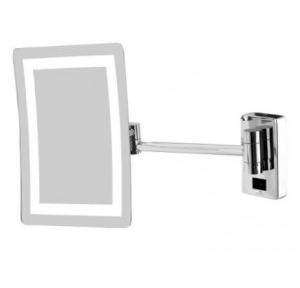 Dolphy Frameless LED Magnifying Mirror Brass Silver 8 Inch, DMMR0015