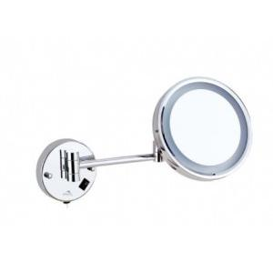 Dolphy One Side 5X Magnifying LED Mirror Stainless Steel and Brass  8 Inch, DMMR0013