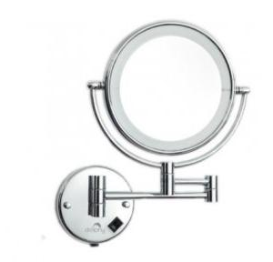 Dolphy Yellow LED Magnifying Mirror Brass And High Polished Chrome�?  8 Inch, DMMR0036