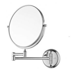 Dolphy Magnifying Makeup & Shaving Mirror Stainless Steel and Brass Silver 8x1x8 Inch, DMMR0001