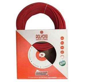 Polycab 120 Sqmm 4 Core FR PVC Insulated Unsheathed Industrial Cable Red, 1 mtr