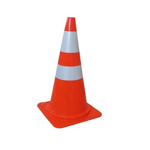 Traffic Cone With Rubber Base and Hookring PVC Orange 750mm