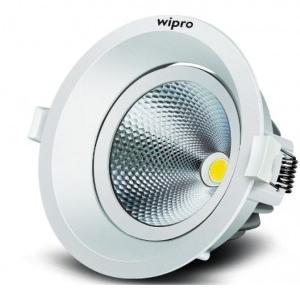 Wipro D330865 Garnet 8-Watt Trimless COB Downlight (Cool Day Light, White, Round)