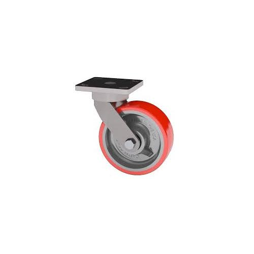 Full Caster 50x25mm Red PU trolley wheels with nut & bolt